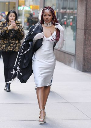 Keke Palmer in White Dress out in New York