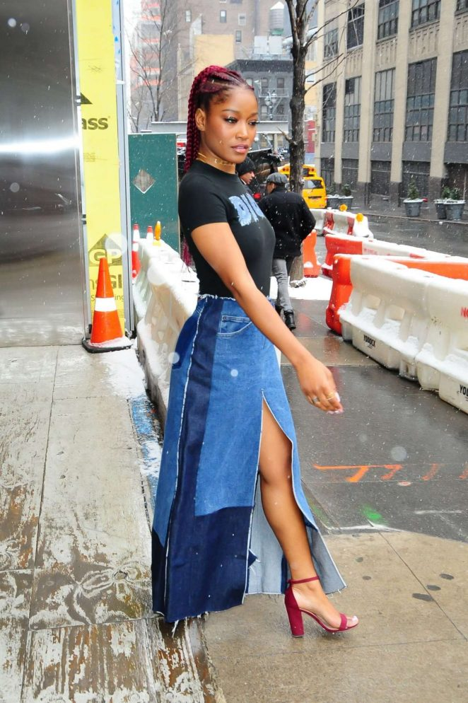Keke Palmer: Leaves Associated Press Offices -06