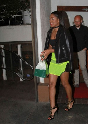 Keke Palmer: Leaving Madeo Restaurant -01