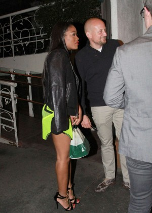 Keke Palmer: Leaving Madeo Restaurant -02
