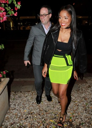 Keke Palmer: Leaving Madeo Restaurant -03
