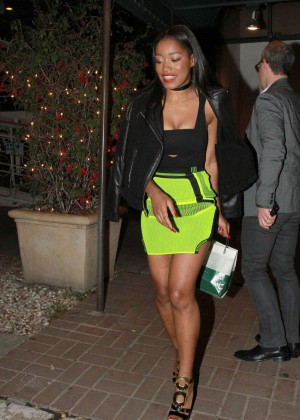 Keke Palmer: Leaving Madeo Restaurant -04