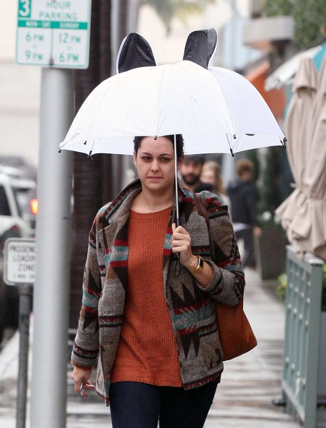 Kelen Coleman out in The Rain in Beverly Hills