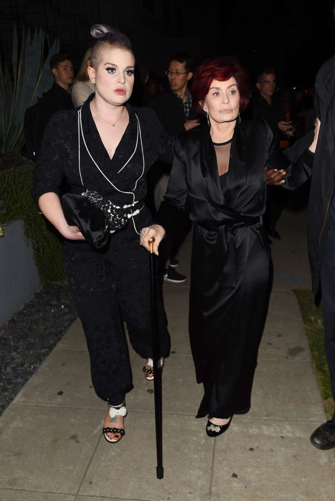 Kelly and Sharon Osbourne Attend Elton John's 70th Birthday Party in Los Angeles