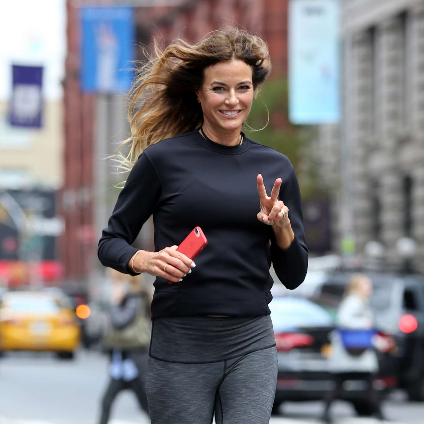 Kelly Bensimon 2017 : Kelly Bensimon: Goes for a jog in NYC -01