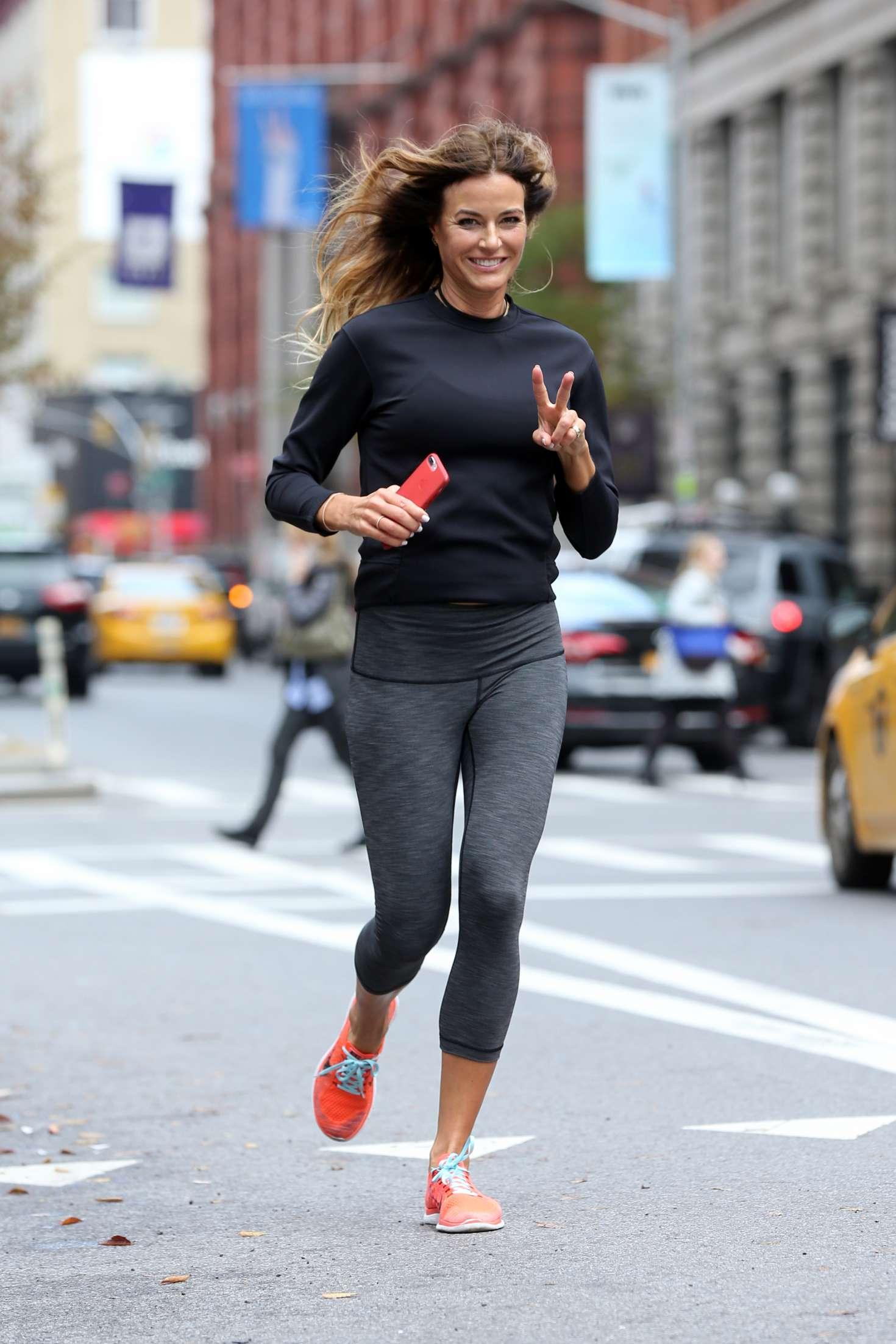 Kelly Bensimon 2017 : Kelly Bensimon: Goes for a jog in NYC -02