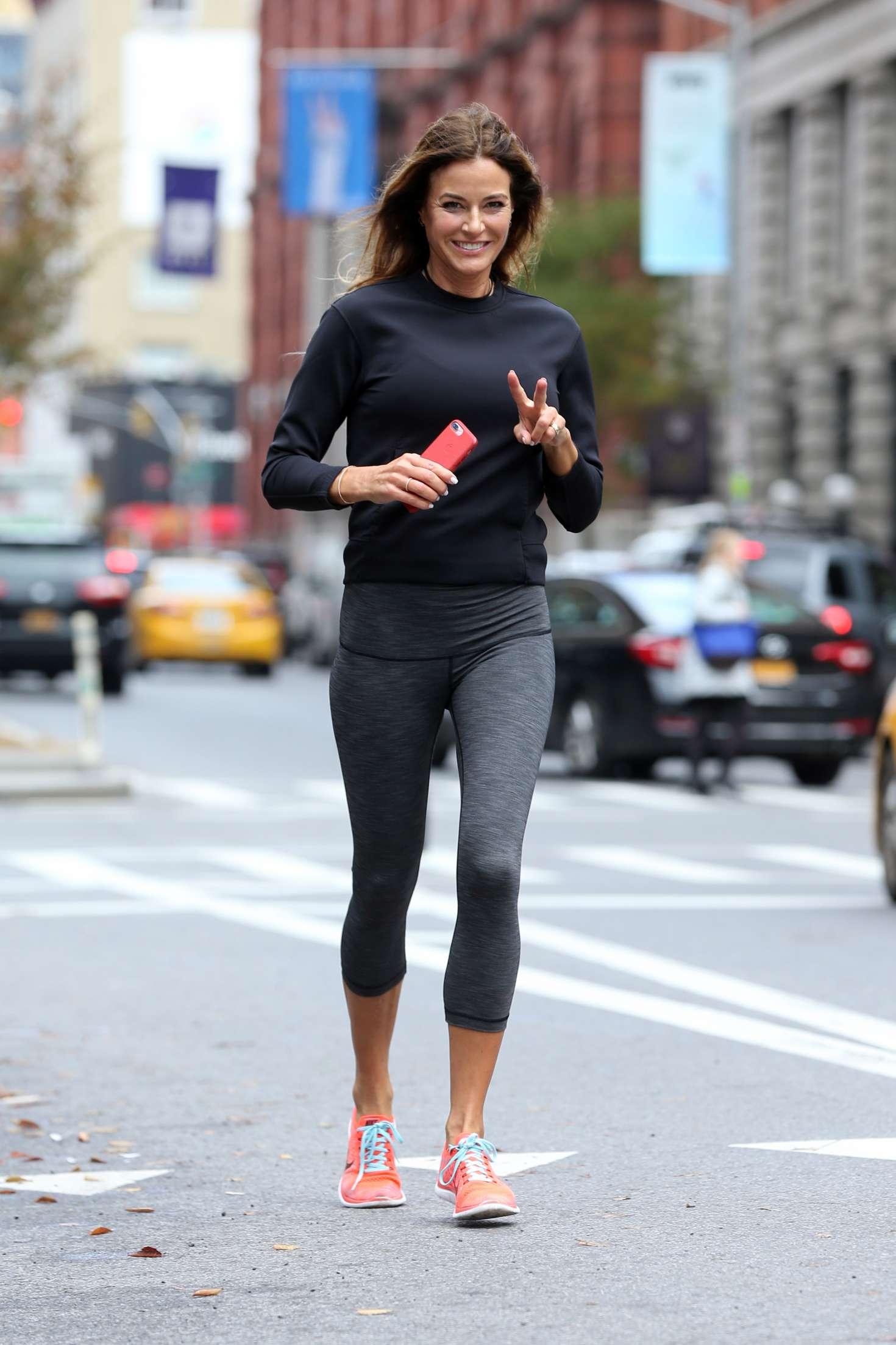 Kelly Bensimon 2017 : Kelly Bensimon: Goes for a jog in NYC -04