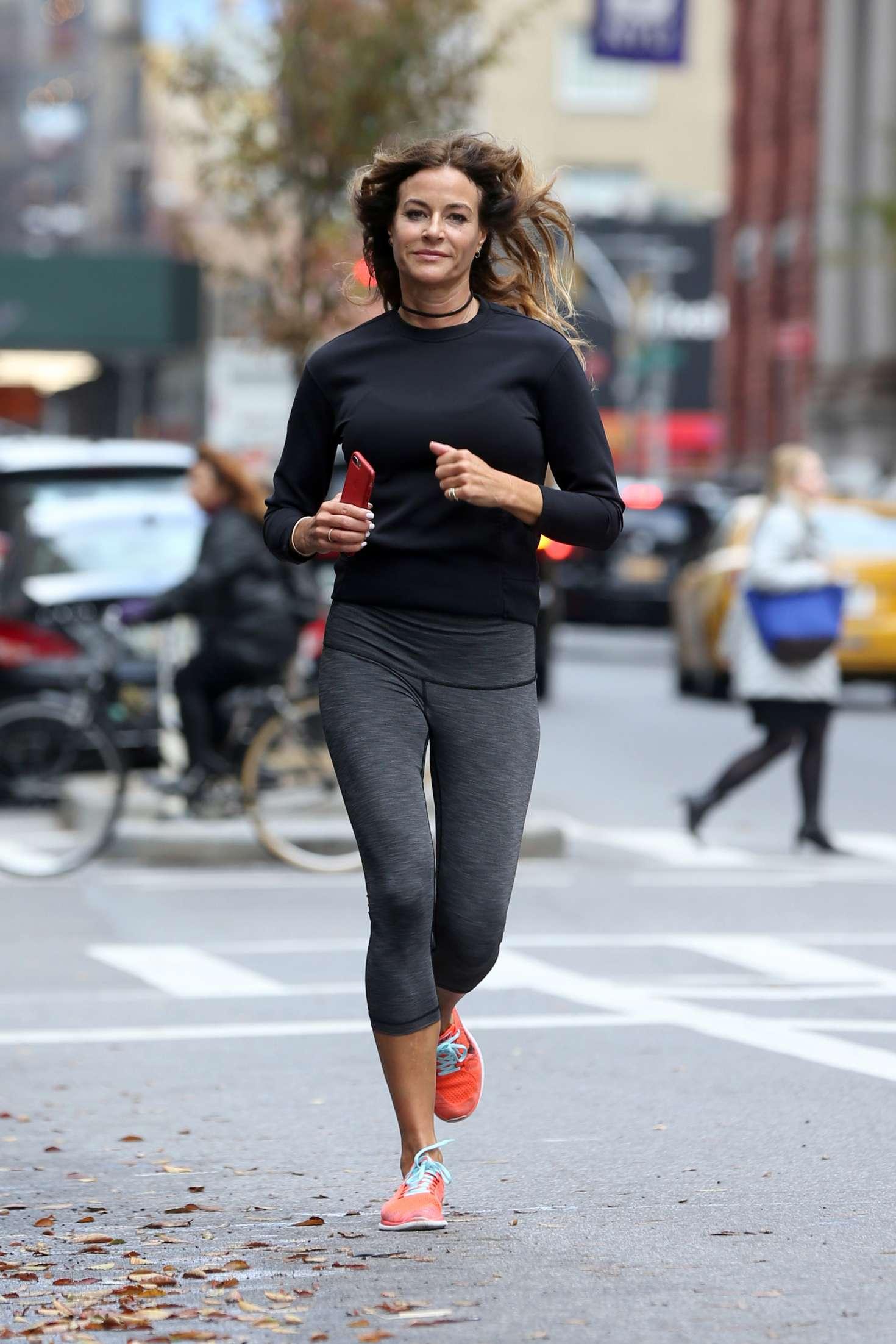 Kelly Bensimon 2017 : Kelly Bensimon: Goes for a jog in NYC -05