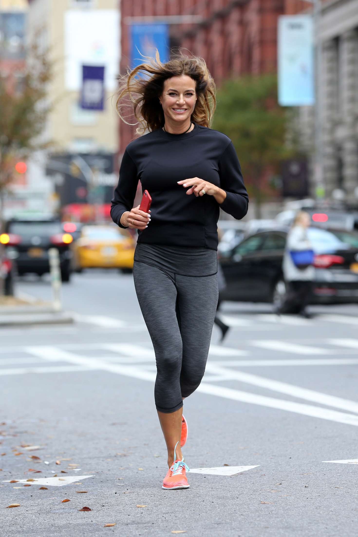 Kelly Bensimon - Goes for a jog in NYC