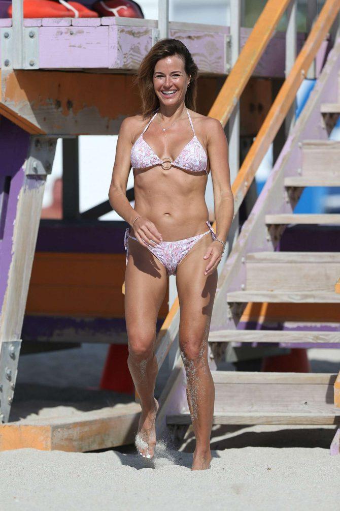Kelly Bensimon in Bikini on Miami Beach