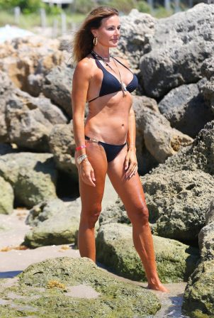 Kelly Bensimon in Black Bikini in Deerfield Beach