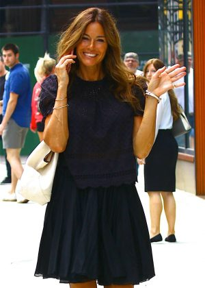 Kelly Bensimon in Black Dress out in New York