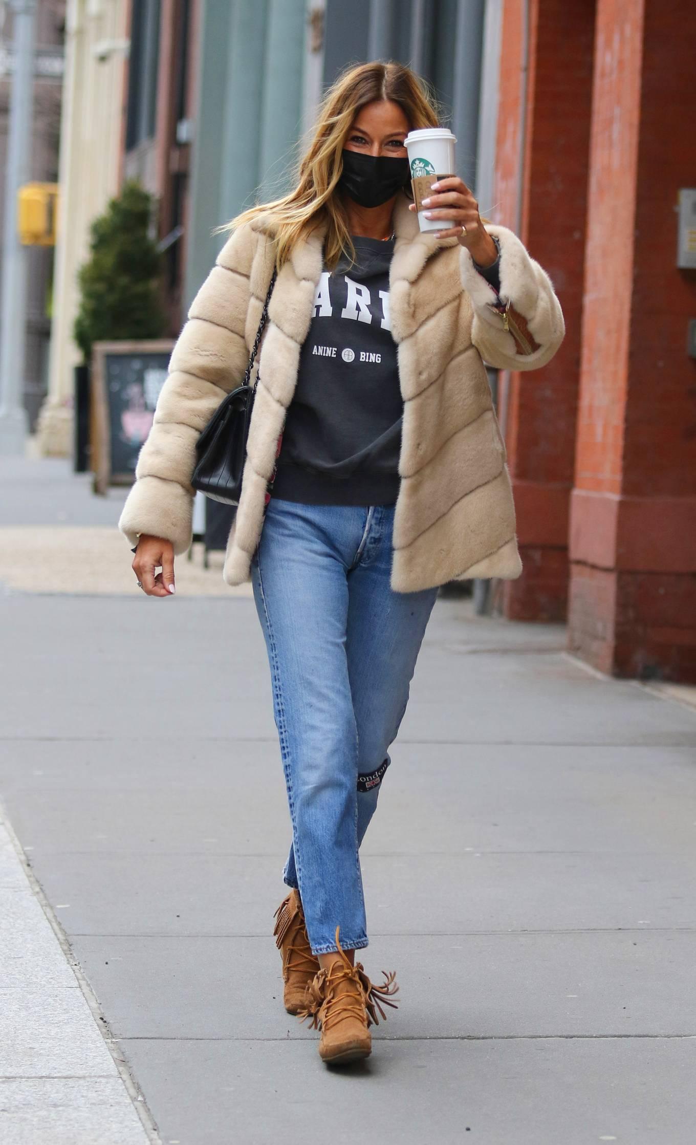 Kelly Bensimon - In denim seen around Manhattan's Soho area