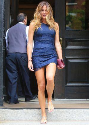 Kelly Bensimon In Mini Blue Dress 02 Gotceleb