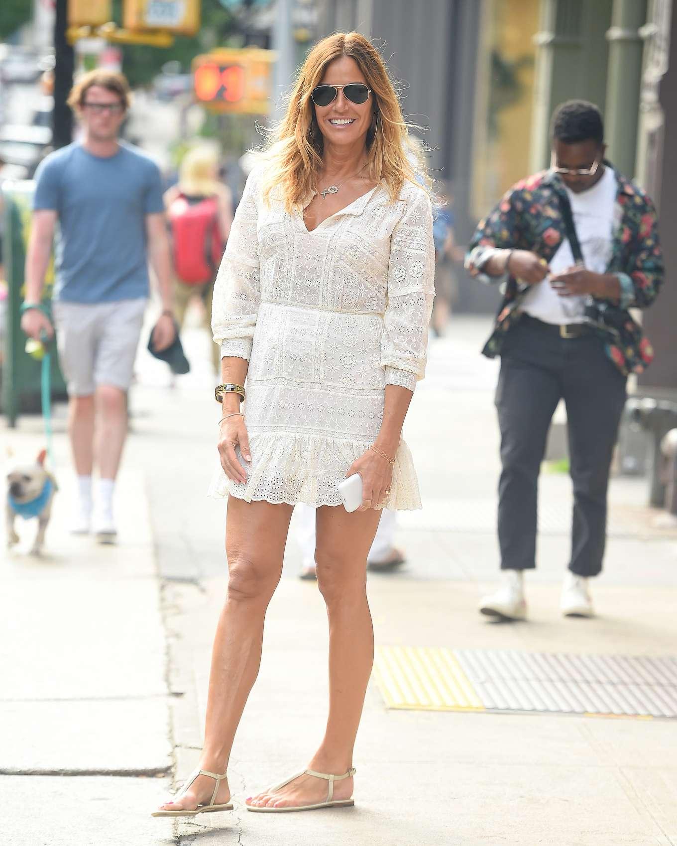 Kelly Bensimon in Mini Dress - Out in Soho, New York