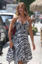 Kelly Bensimon in Summer Dress - Out in New York