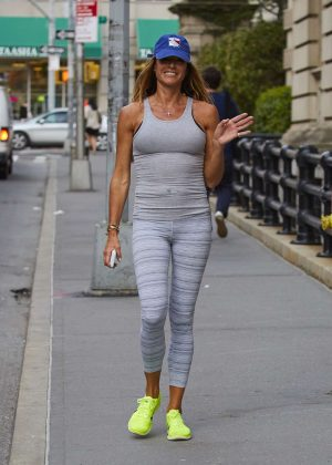 Kelly Bensimon in Tights after workout in New York