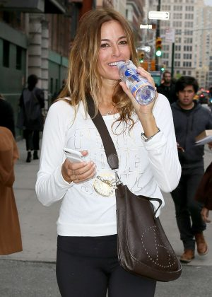 Kelly Bensimon - Leaves the gym in New York