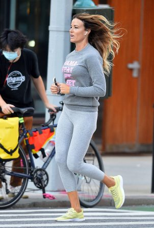 Kelly Bensimon - Looks sporty as she went for a jog in New York City