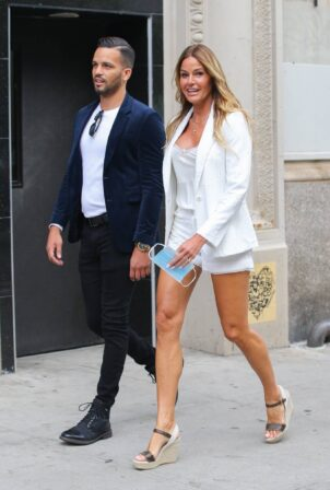 Kelly Bensimon - Out for a stroll with a friend in New York