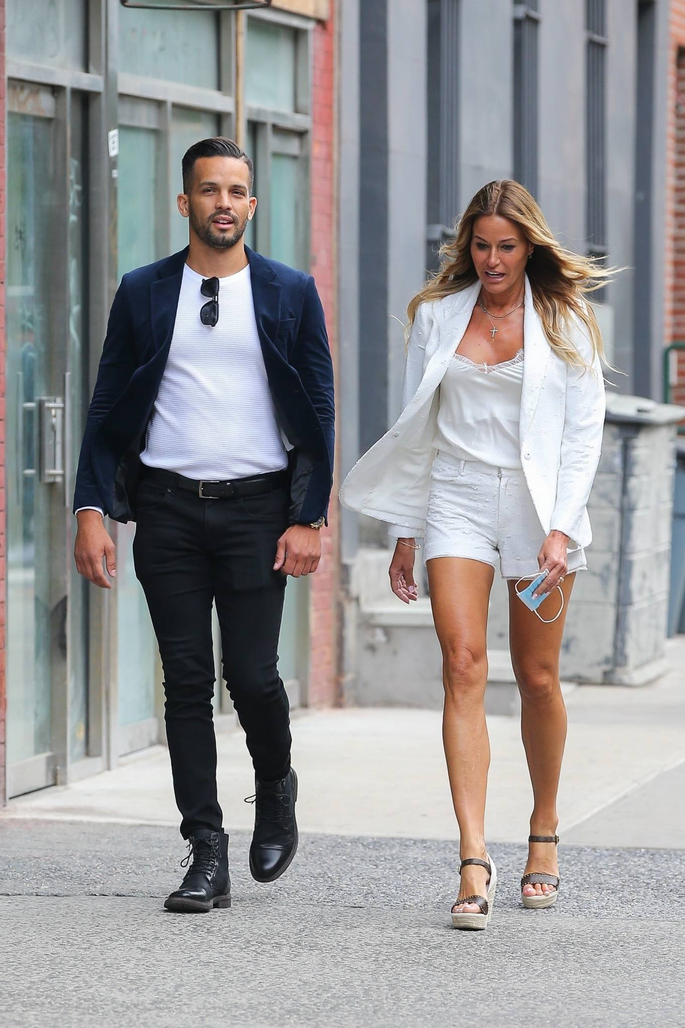 Kelly Bensimon 2021 : Kelly Bensimon – Out for a stroll with a friend in New York-03