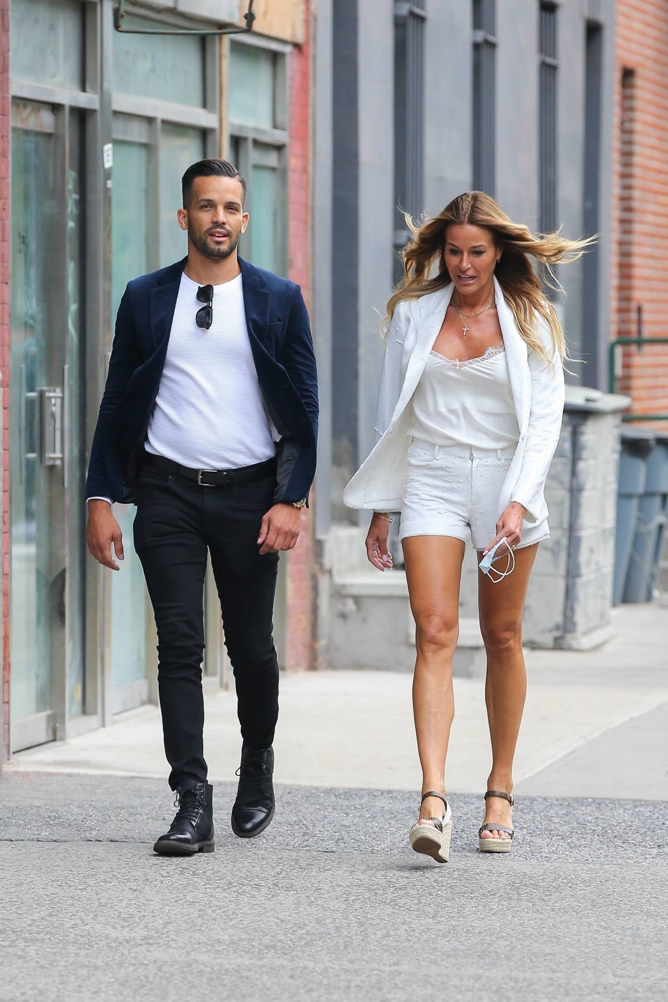 Kelly Bensimon 2021 : Kelly Bensimon – Out for a stroll with a friend in New York-08