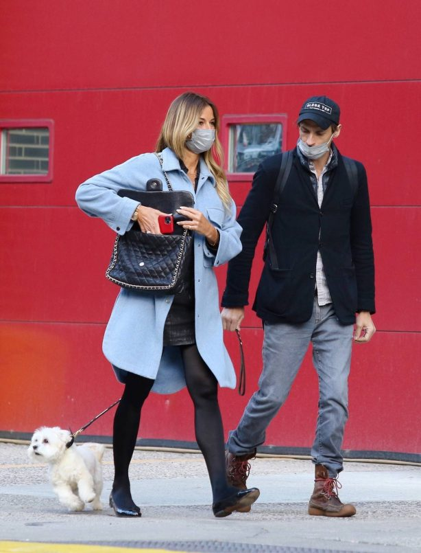 Kelly Bensimon - Out with boyfriend Nick Stefanov in New York