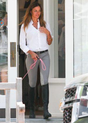 Kelly Bensimon shopping in the Hamptons