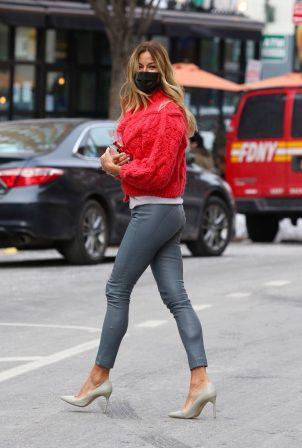 Kelly Bensimon - Wearing a skin-tight leather pants around Manhattan's Soho area