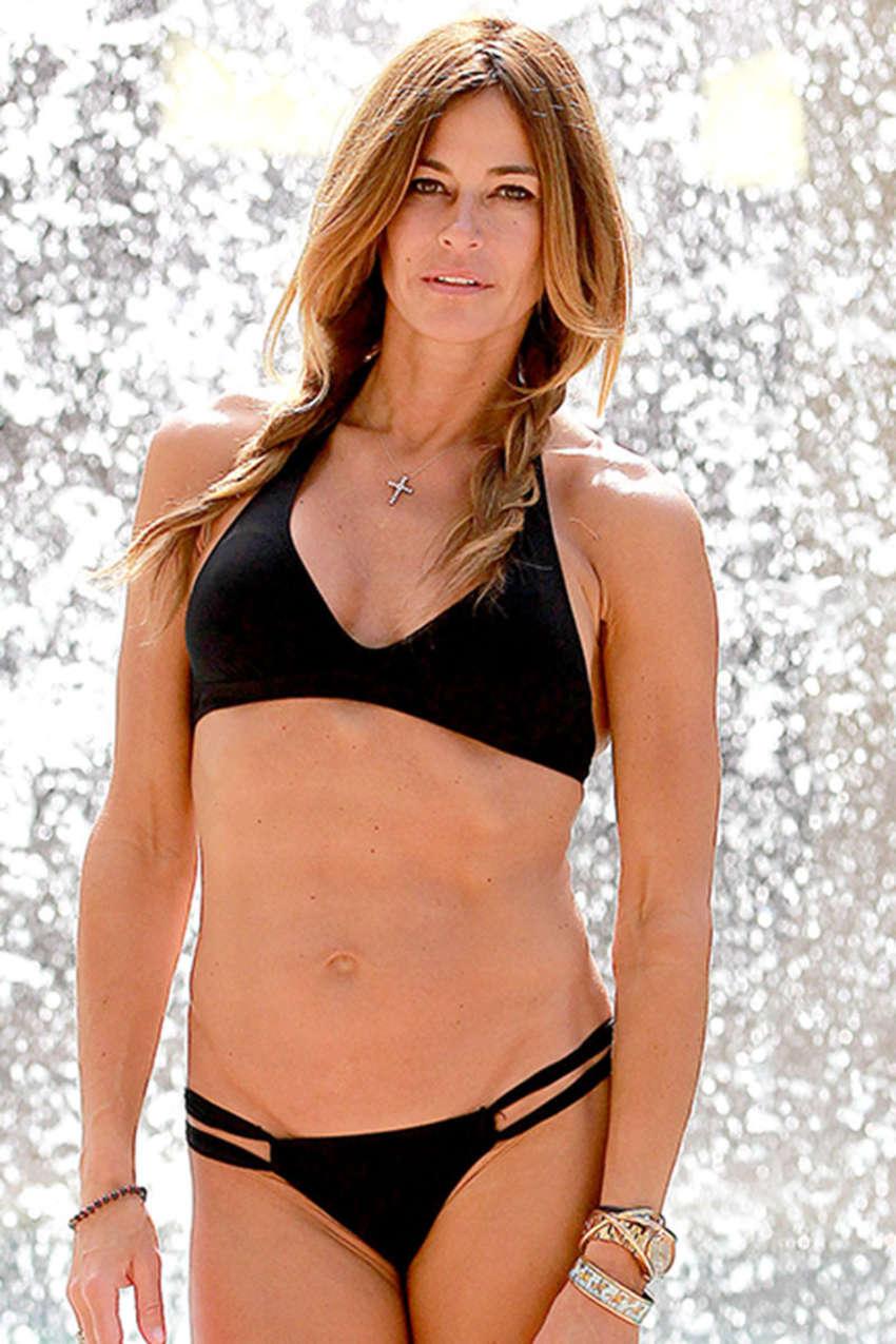 Kelly Bensimon in Black Bikini at Seminole Hard Rock in Florida