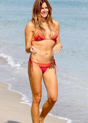 Kelly Bensimon in Bikini on the beach in Boca Raton