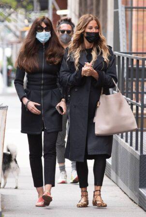 Kelly Bensimon - With Carol Alt out in Tribeca - New York