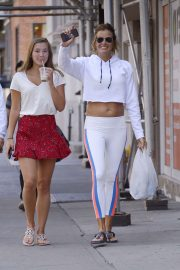 Kelly Bensimon with daughter Louise Bensimon - Out in New York City