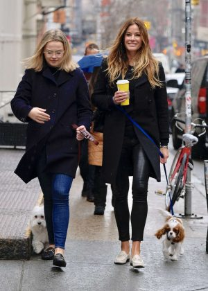 Kelly Bensimon with her daughter out in Soho