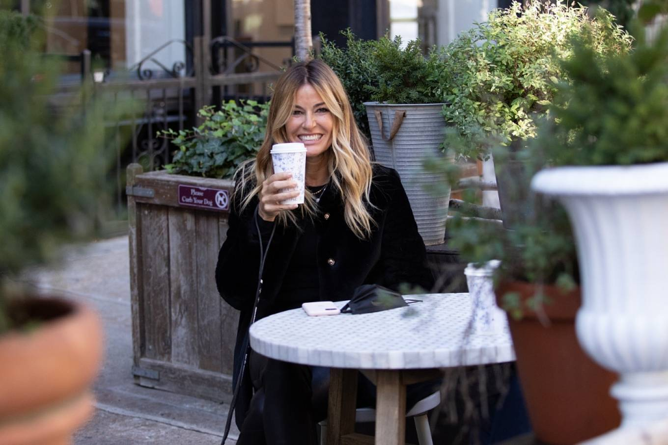 Kelly Bensimon 2020 : Kelly Bensimon – With her pup out for a coffee in NYC-02