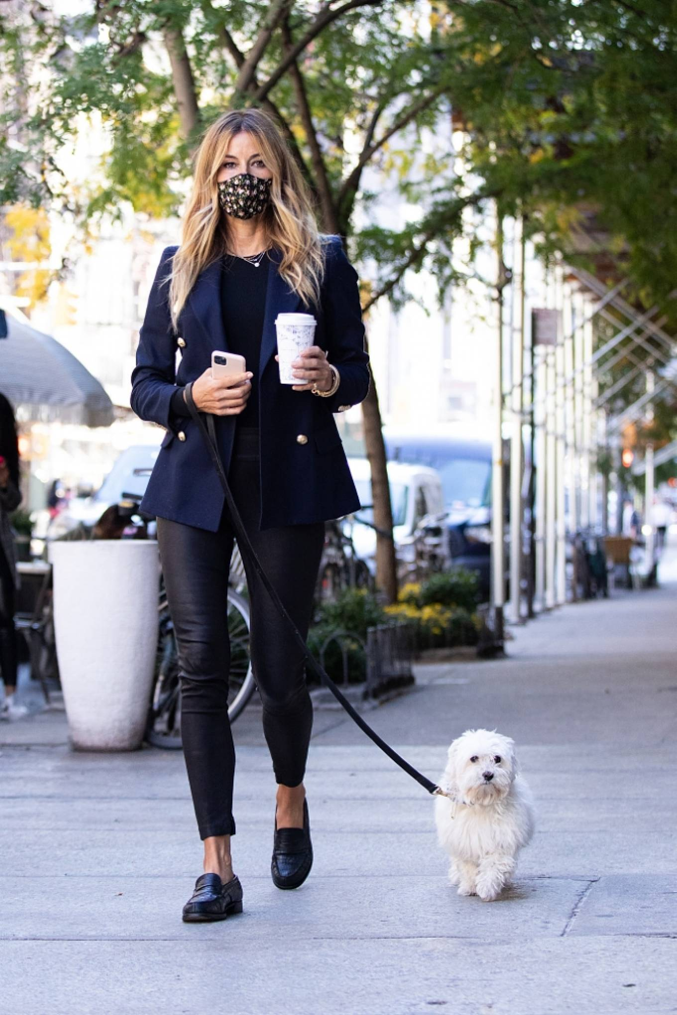 Kelly Bensimon 2020 : Kelly Bensimon – With her pup out for a coffee in NYC-05