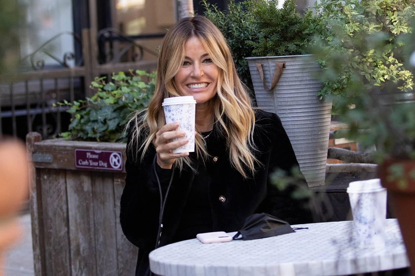 Kelly Bensimon 2020 : Kelly Bensimon – With her pup out for a coffee in NYC-07