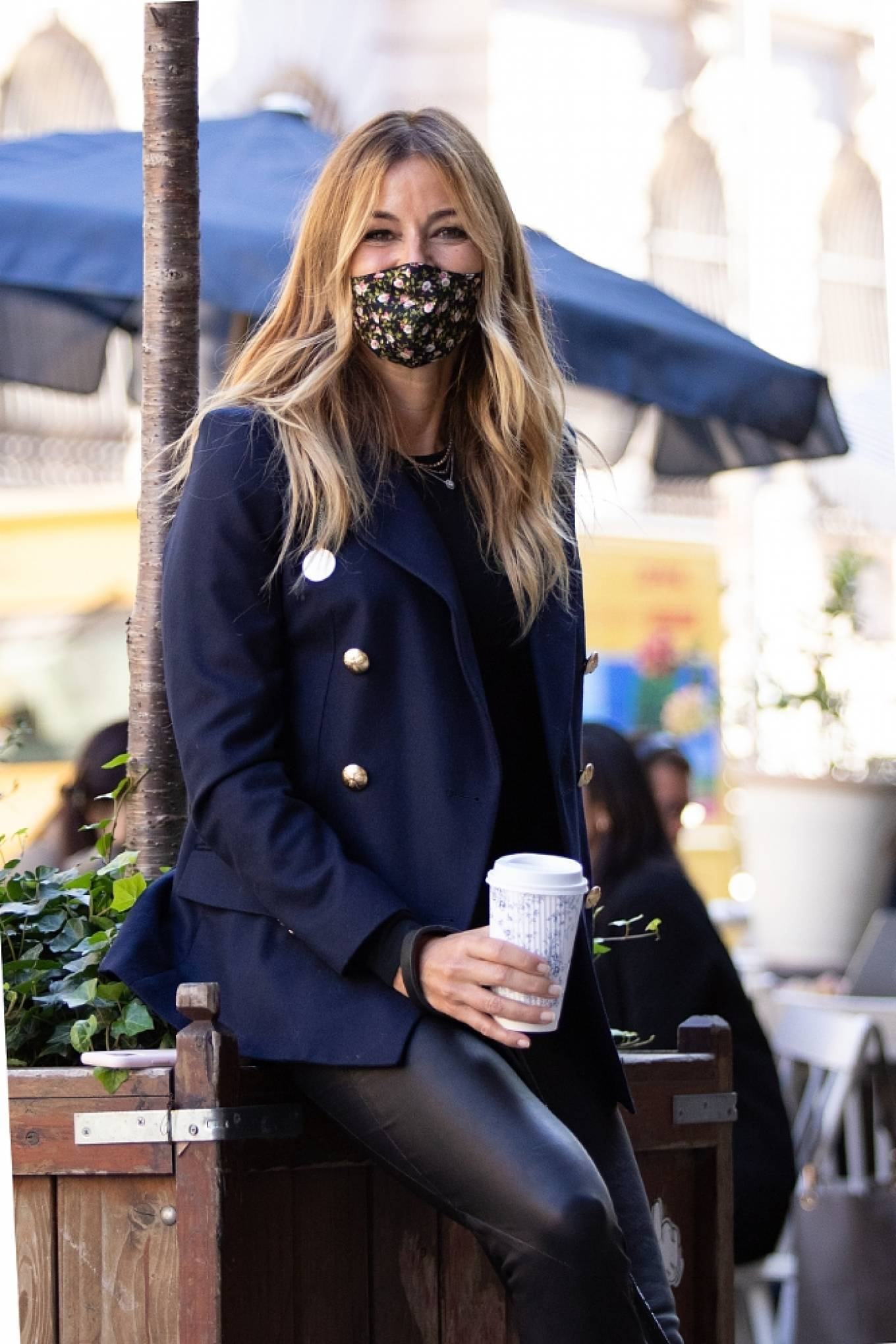 Kelly Bensimon 2020 : Kelly Bensimon – With her pup out for a coffee in NYC-09
