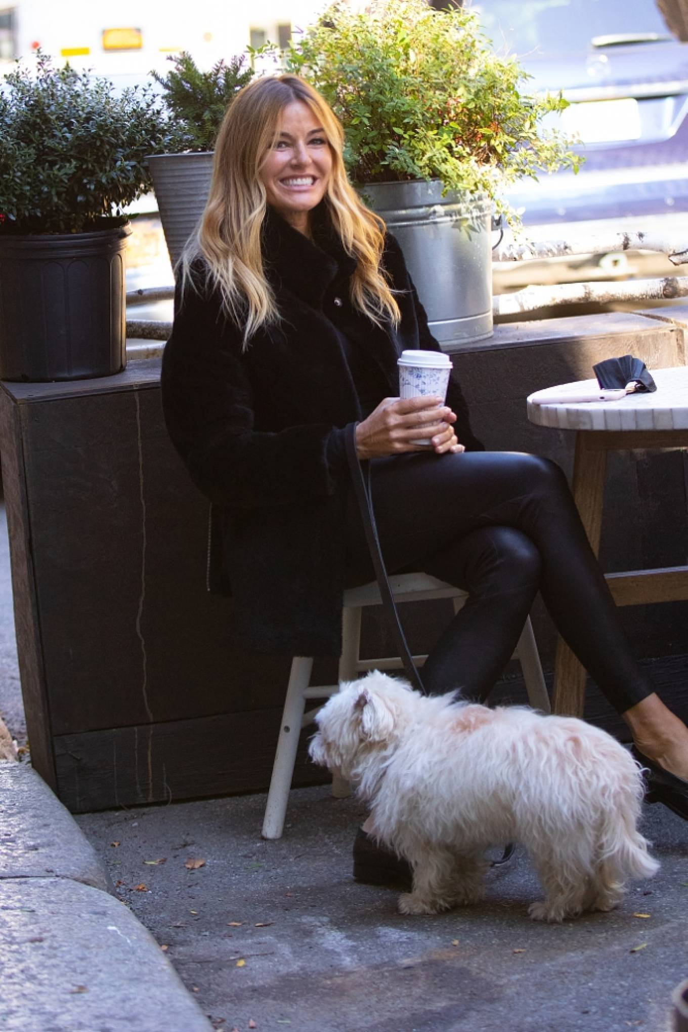 Kelly Bensimon 2020 : Kelly Bensimon – With her pup out for a coffee in NYC-11