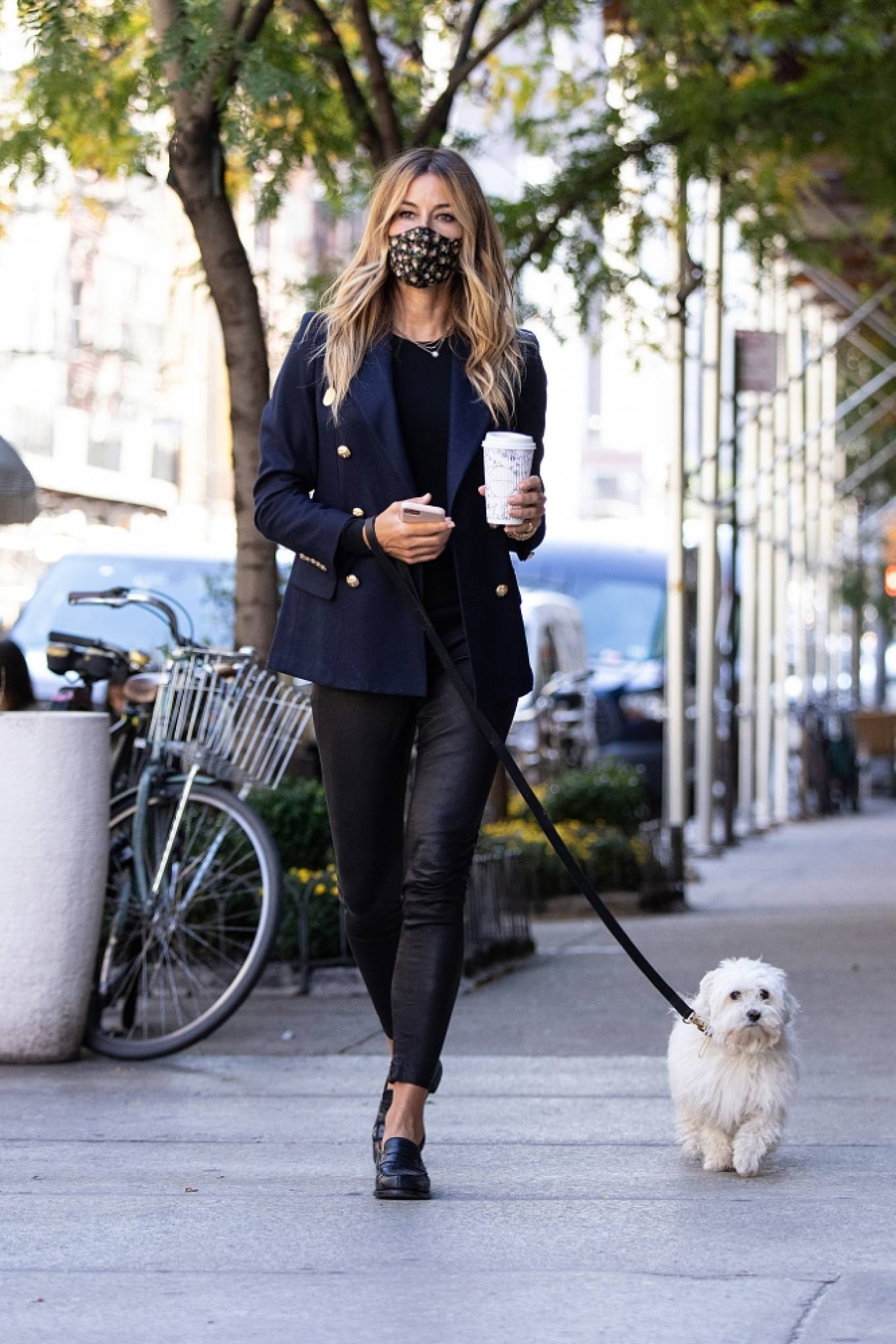 Kelly Bensimon 2020 : Kelly Bensimon – With her pup out for a coffee in NYC-12
