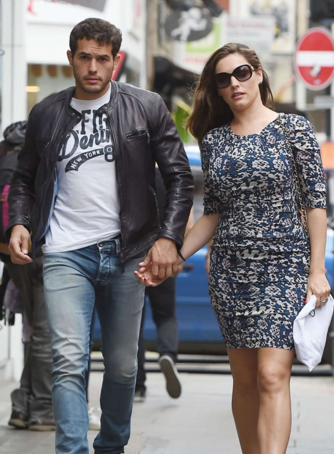 Kelly Brook and her boyfriend Jeremy Parisis out in London