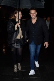 Kelly Brook and Jeremy Parisi - Leave Global Radio Studios in London