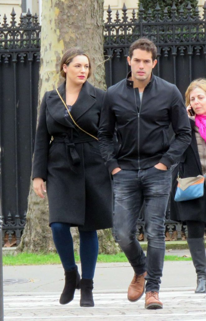 Kelly Brook and Jeremy Parisi Out in Paris
