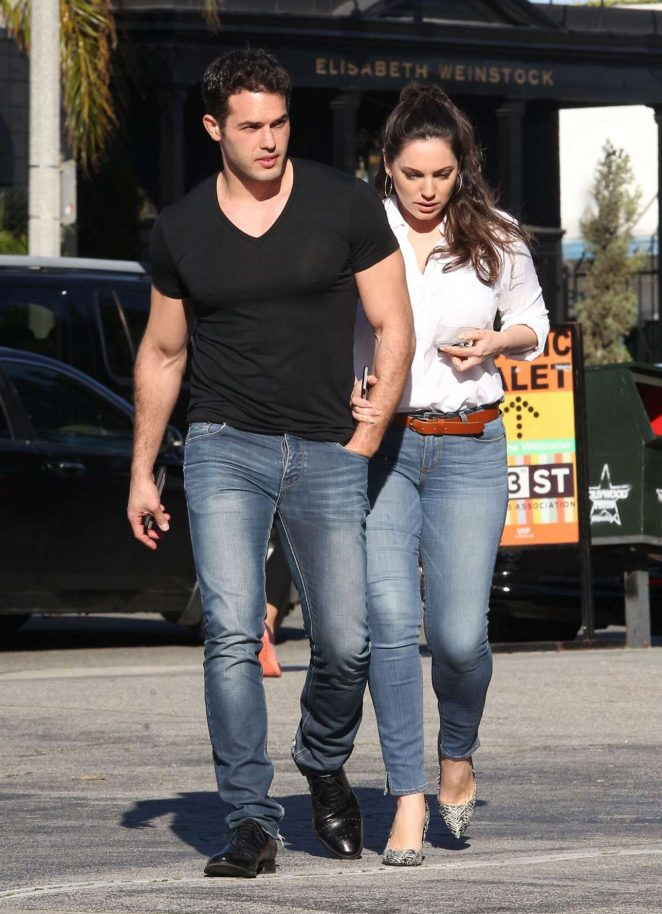 Kelly Brook and Jeremy Parisi out in West Hollywood