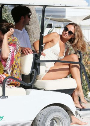Kelly Brook and Kimberley Garner on the beach in St Tropez