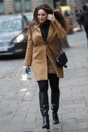 Kelly Brook - Arrives at Heart Radio in London