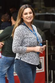 Kelly Brook - Arrives for her Hear Radio show in London