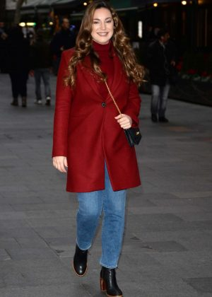 Kelly Brook - Arriving at Global House in London