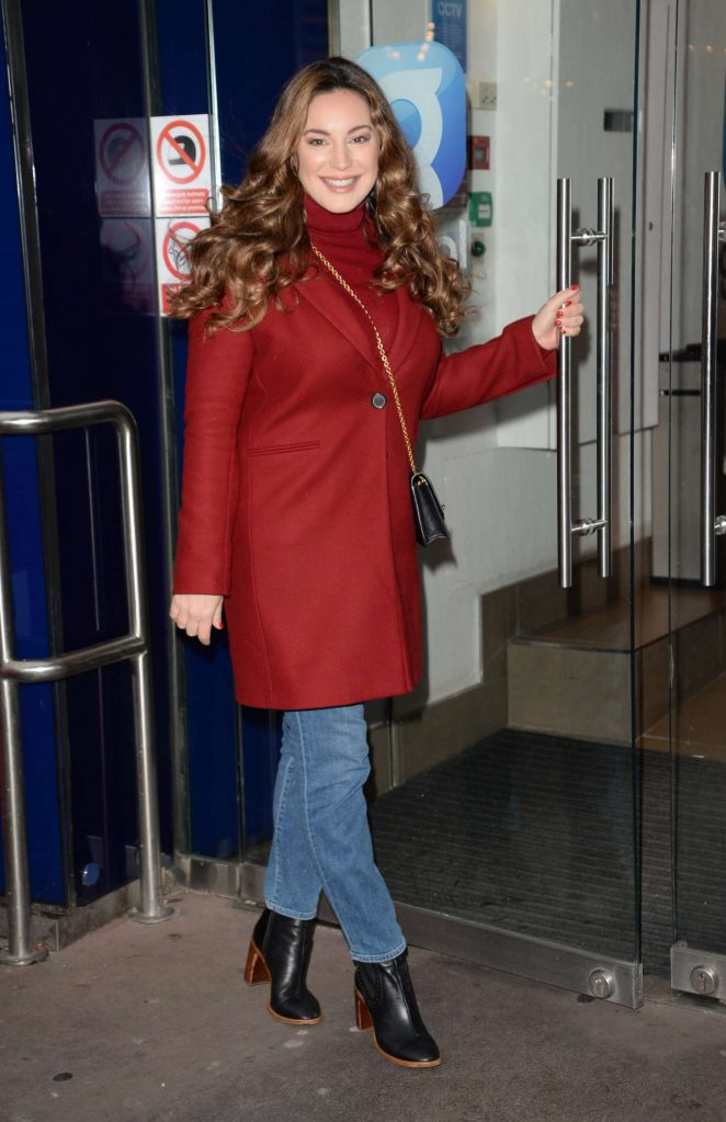 Kelly Brook: Arriving at Global House -04
