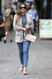 Kelly Brook - Arriving at Global Offices in London